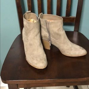 Tan ankle high booties